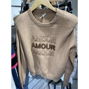 Amour sweater beige brown