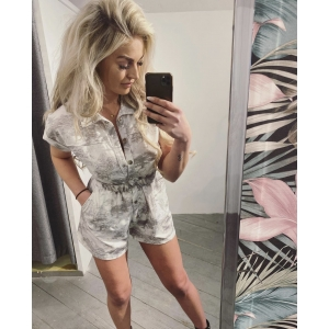 Comfy playsuit white grey
