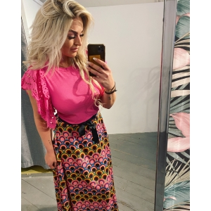 Skirt multicolor pink